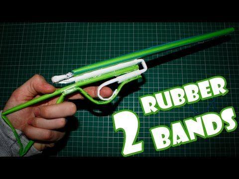 ▶ Paper Gun that Shoots 2 Rubber Bands - (Paper Shotgun) - YouTube