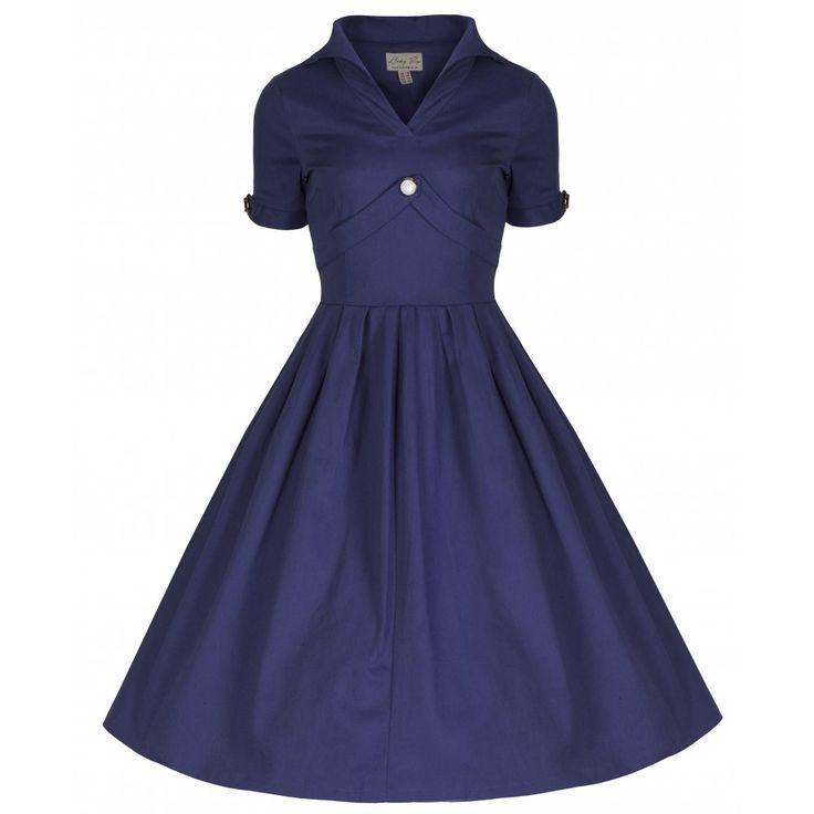 'Claudette' Blue Rockabilly Party Dress