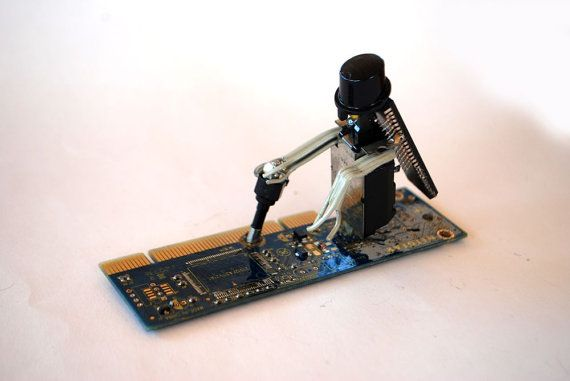 Old Giao Tze by Phygitales on Etsy  #robots, #phygitales, #Phyci_Digi_Land, #animation, #comics, #art, #sculpture, #recycled_PCB, #recycled_electronics, #figurine, #recycled_computer, #Recycled_Circuit_Board, #computer_parts, #recycled_electronics, #recycled