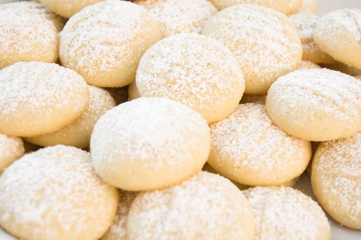 Egyptian Sweet Cookies 							1 hour to prepare 30-40 cookies 								 												 									 	 		 			 				 Print 				 	 Save 			 			 				  	Share  	   	Pin  	 			 		  	  	 		Ingredients 		 							4 cups flour 							2 ½ sticks unsalted butter, melted  							½  cup powdered sugar, plus more for dusting 							¾  teaspoon baking powder 							Pinch salt 							¼  teaspoon vanilla extract 							¼  teaspoon cinnamon 							¼  teaspoon nutmeg 							½  cup milk, room temperature 					 	…