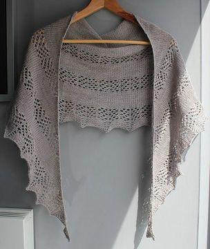 Kiekko - un châle dentelle facile - Tutoriels de tricot chez Makerist