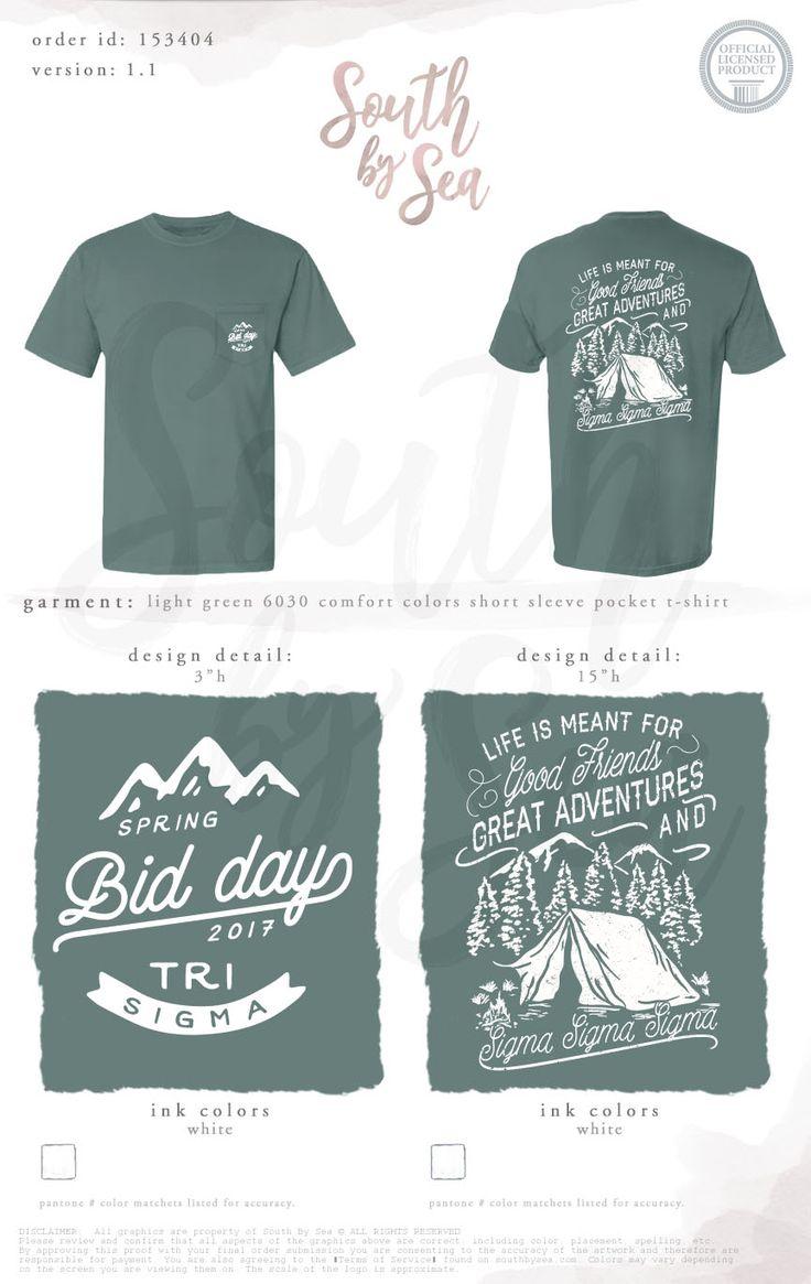 Shirt design inspiration - Sigma Sigma Sigma Tri Sigma Bid Day Spring Bid Day Great Adventures