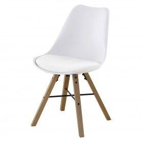 2x Chaise piétement chêne Tya