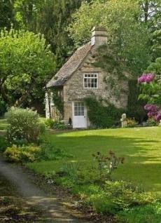 english storybook cottage a stone cottage, I wonder if it stays cool inside