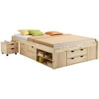 Funktionsbett SABRINA Jugendbett 140x200 cm natur lackiert Kinderbetten Funktionsbetten