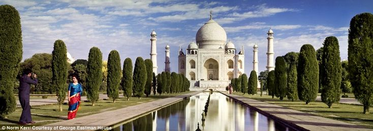 Exotic: While the majority of the Kodak photos depicted life and vacations in the U.S. there were some shots from sights across the world, such as this 1964 image of the Taj Mahal.  Read more: www.dailymail.co.uk