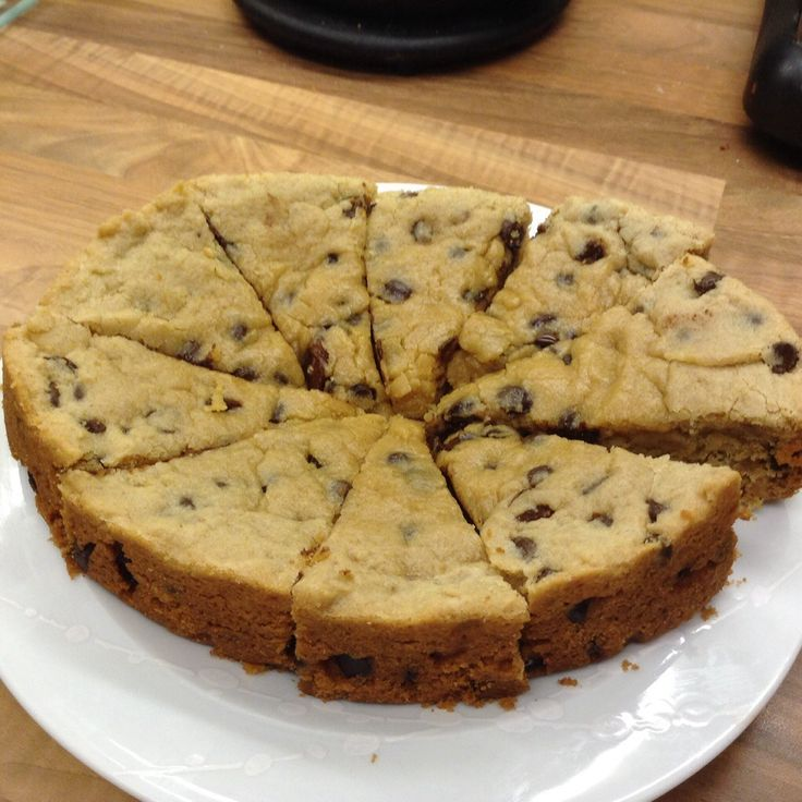 Recipe for large cookie cake
