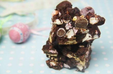 Easter Rocky Road Bars #cooking
