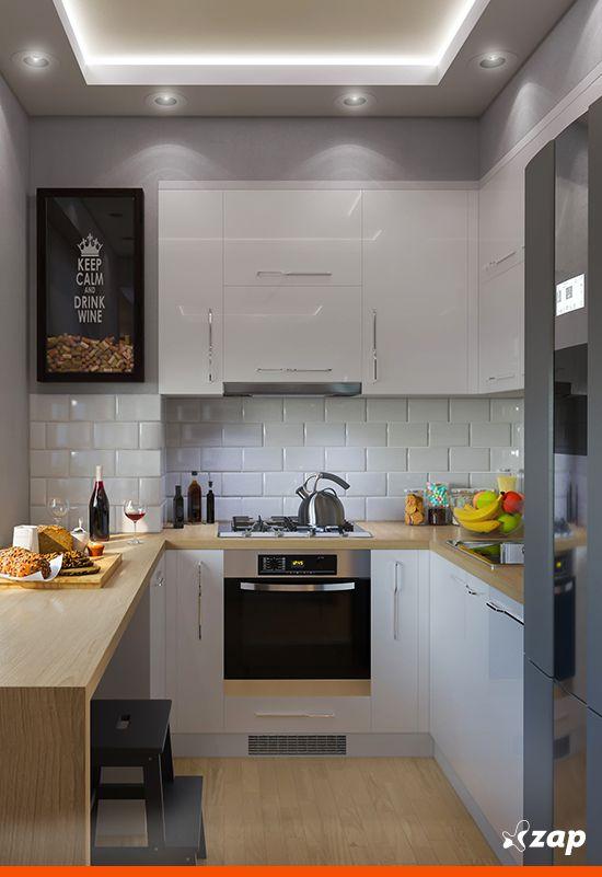 Sua cozinha é pequena? Não se preocupe! Algumas ideias criativas podem ser a chave do sucesso para ter uma cozinha prática e útil para o dia a dia. Quer ver?!
