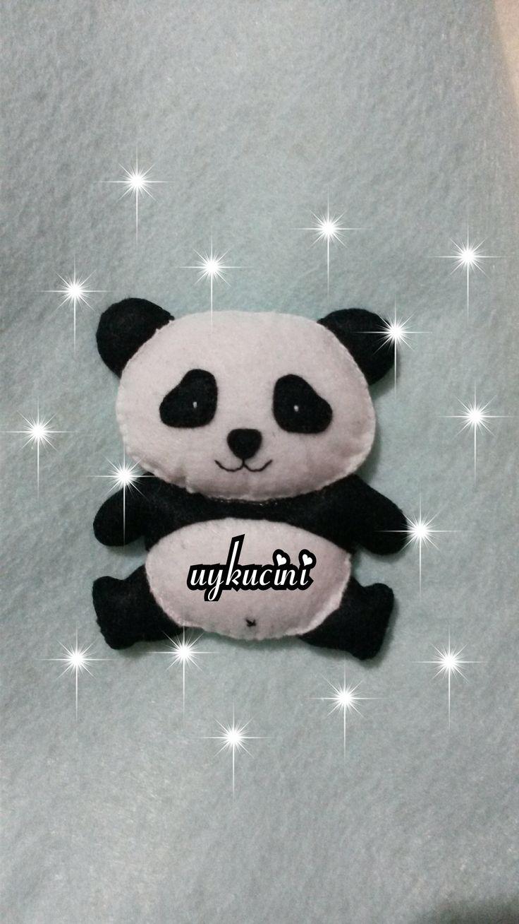 uykucini - keçe dolgulu panda :) magnet için felt panga :)