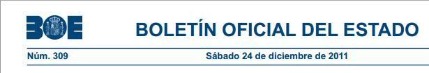 Real Decreto 1697/2011 de 18 de noviembre Certificados de Profesionalidad