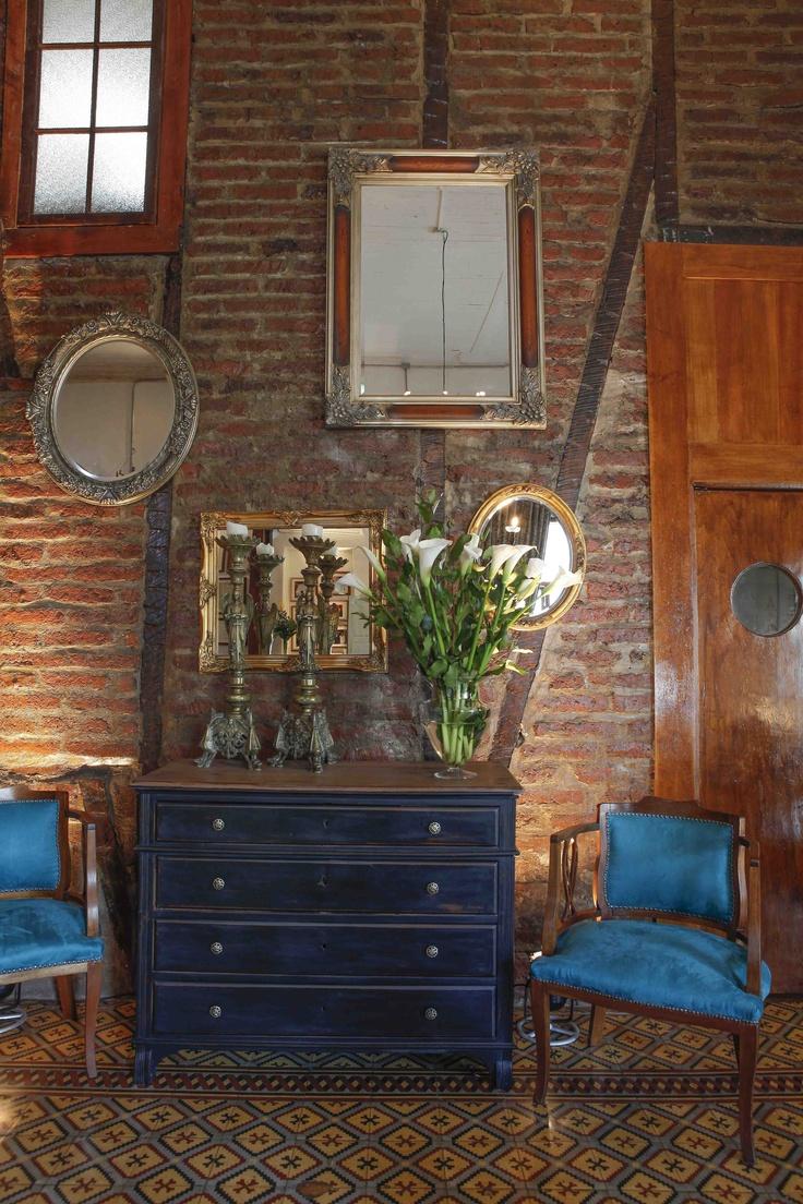 La pared de espejos, un clásico de Espacio Gastronómico.