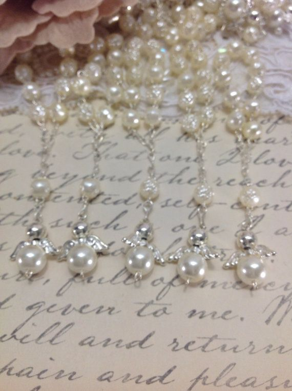 25 pcs Angel Pearl First communion favors by AVAandCOMPANY on Etsy, $17.99