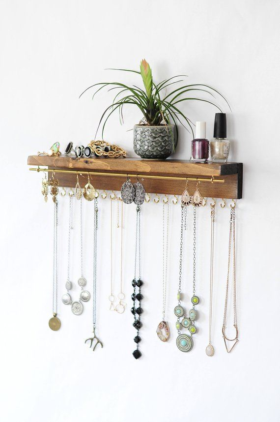 Best Seller Jewelry Organizer With Shelf, Necklace Holder, Bracelet and Earring Holder