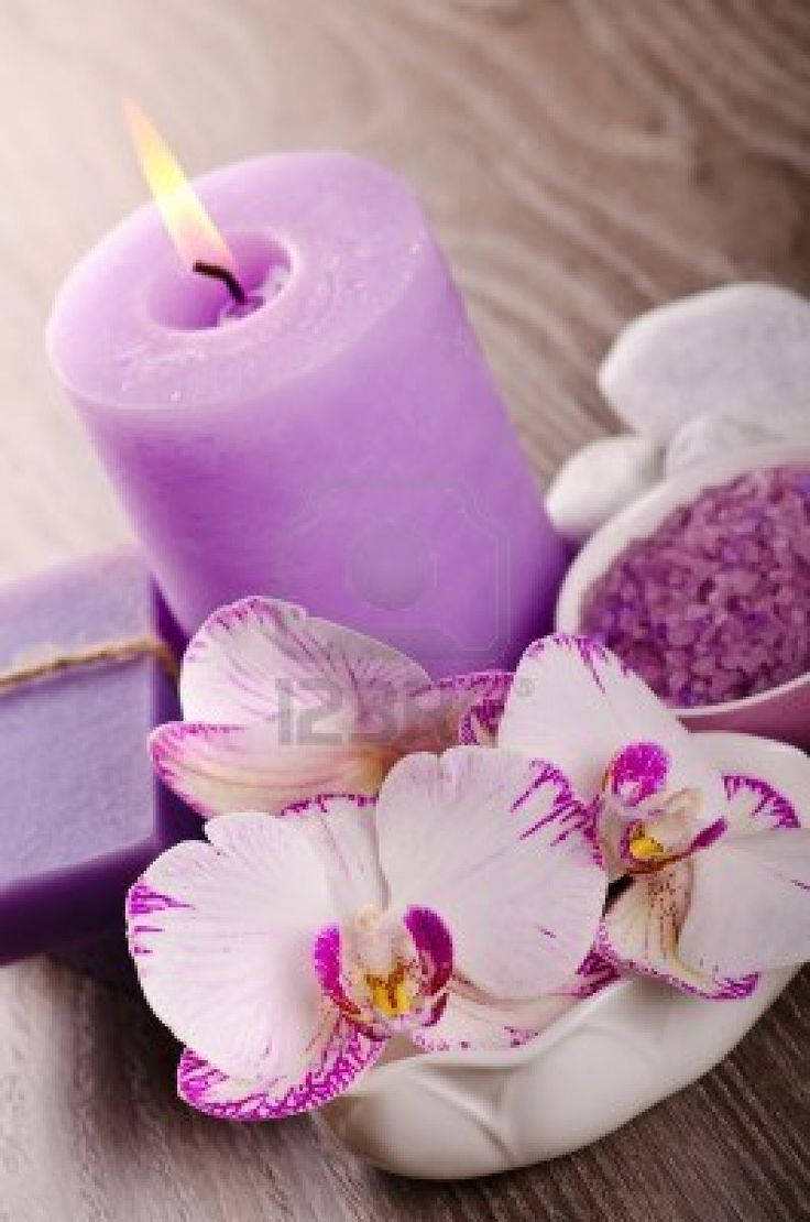 spa with  orchid  123rf  candle