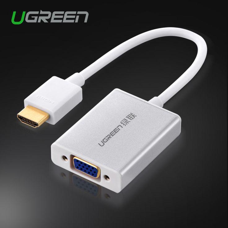 Ugreen versión Premium HDMI VGA adaptador convertidor analógico digital video cable 1080 p para xbox 360 ps3 ps4 dvd pc portátil tv box