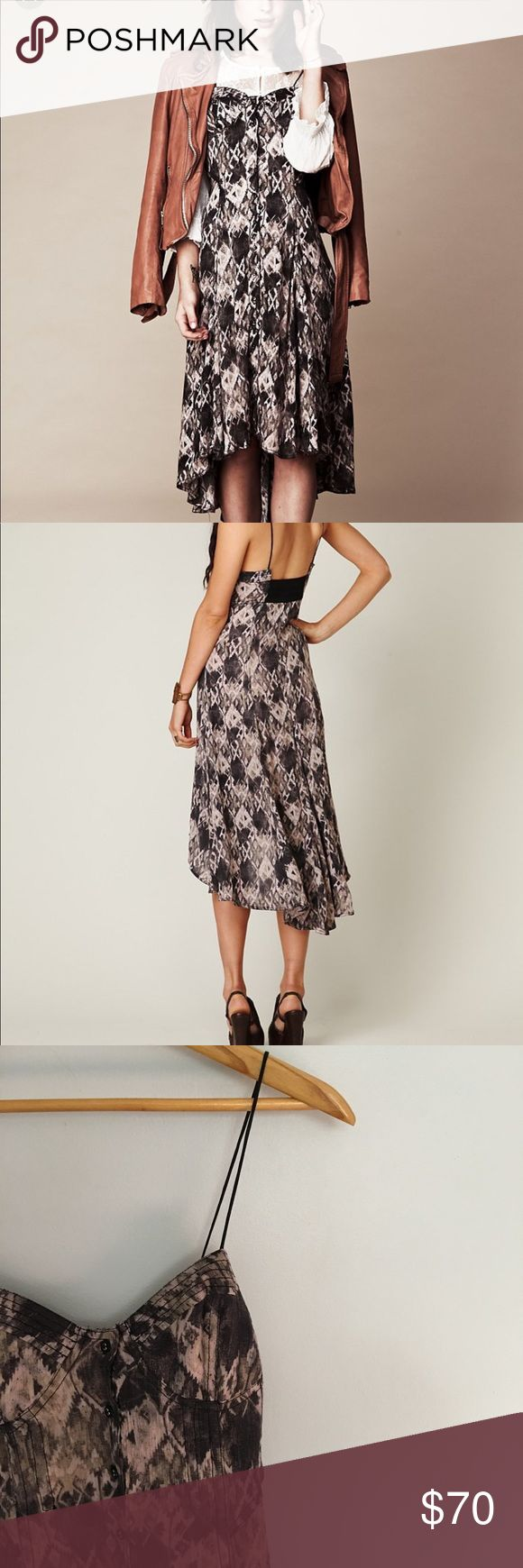 Free People New Romantics Tribal Maxi Dress Free People's New Romantics Tribal Button Down Dress. Perfect condition. Hangs a bit shorter in front. Free People Dresses Maxi