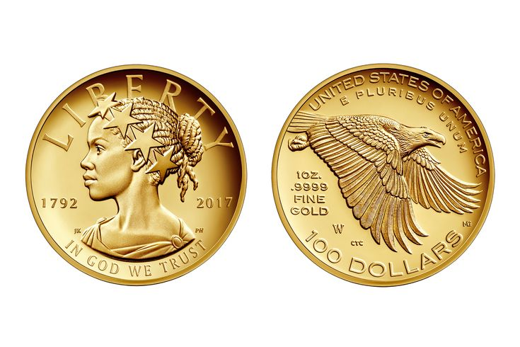 The U.S. Mint's New $100 Gold Coin Portrays Liberty as an African-American Woman
