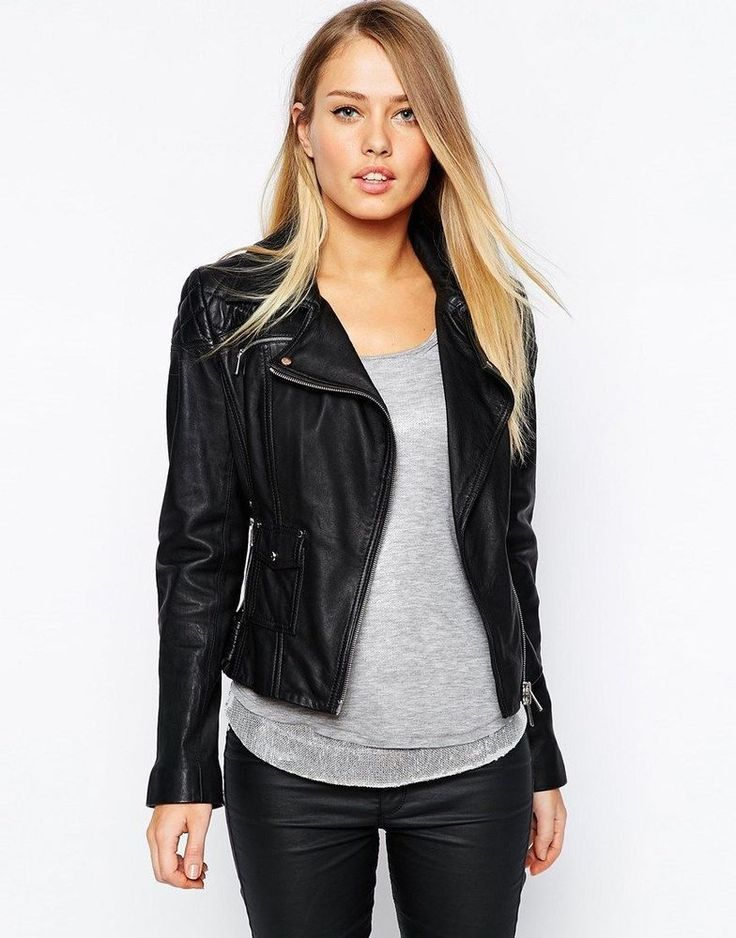 36 best Women's Fashion - Leather Jackets images on Pinterest ...