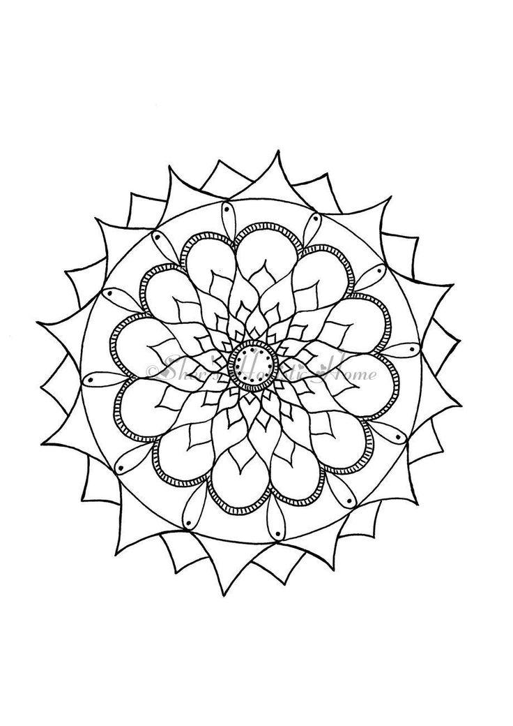 Mandala flower to color!