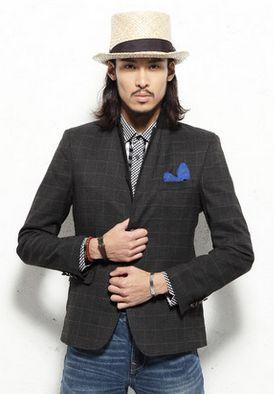 2-Button British Style Bespoke Plaid Suit Blazer Jacket. #mens #luxury #fashion #BLAZER #BLAZERFORMEN #BLAZERfashion #menBLAZER #BLAZERTrend #pilaeo #officalBLAZER #travelBLAZER
