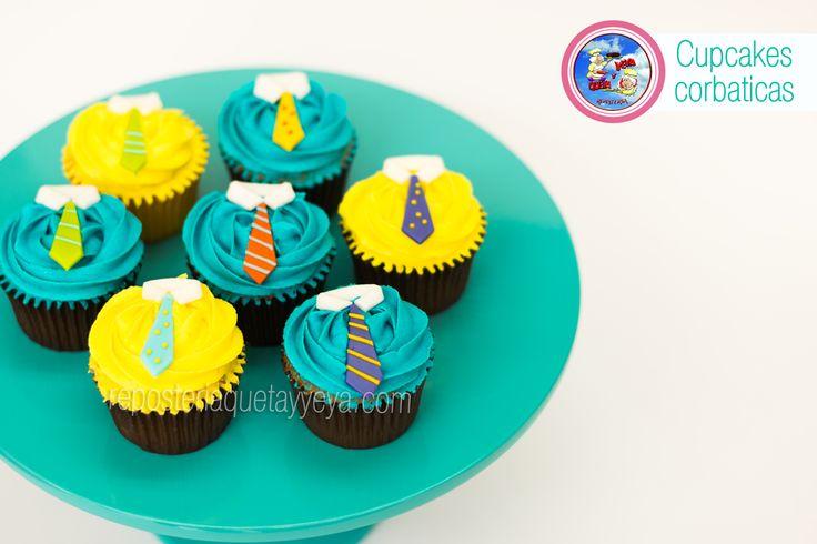 Cupcakes corbatas - Tie cupcakes - Cupcakes dia del padre
