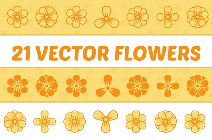 Here is my new product! 21 Vector Flowers!   - 7 Custom Shapes - 3 Different Styles - AI, EPS and PNG files included - 100% Customizable - Organized Files   If you have any kind of questions, please don't hesitate to contact me.   www.musiquedesigns.com
