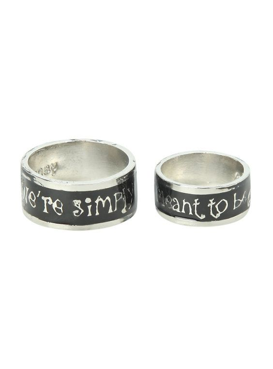 The Nightmare Before Christmas His And Hers Ring Set,