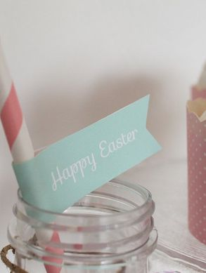 Happy Easter! Paper straw tags