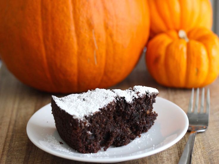 Nutty, chocolate cake is filled with delicious pumpkin for a sweet, festive fall treat common in Northern Italy.