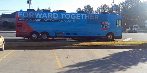 """'Toilet paper was scattered everywhere, and there was a foul smell' (WND) – It looks like properly disposing of No. 2 is not Hillary Clinton's No. 1 priority. A Clinton campaign """"Forward Together"""" bus has been caught dumping foul-smelling human waste into the street and down a storm drain in Lawrenceville, Georgia, according to severalreports. ..."""
