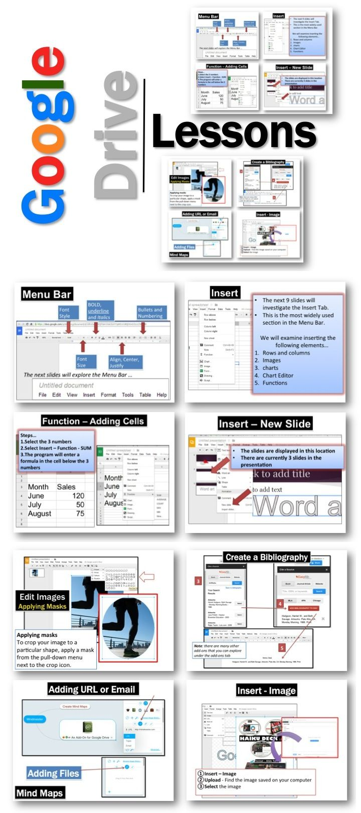 •These lessons contains screen shots, activities, marking schemes, tips and instructions for using Documents, Presentations, Spreadsheets, Drawings and Forms within Google Drive.  Update: Lessons for the new Google Add-ons and Updates 2014 have been added.