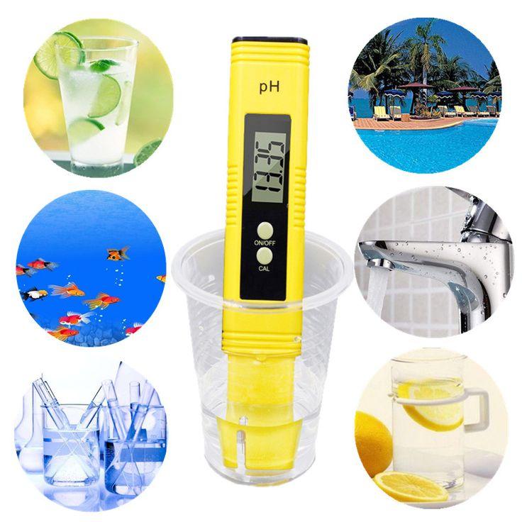 Medidor de pH digital automático Protable LCD Pluma de calibración de precisión del agua del comprobador Acuario Piscina