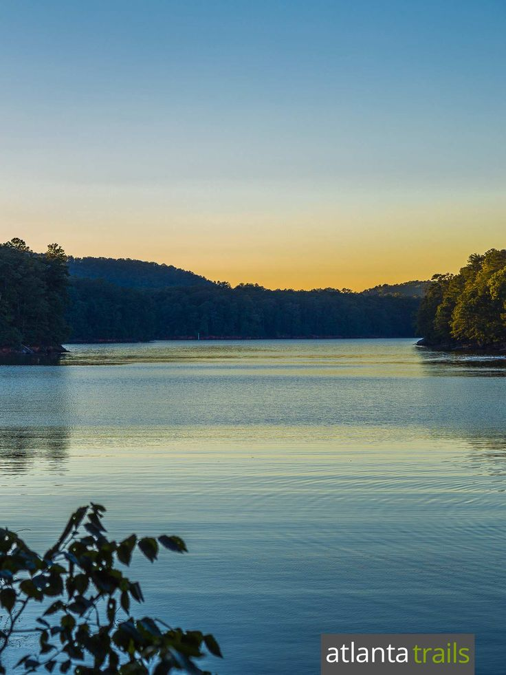 Hike the Iron Hill Trail at Georgia's Red Top Mountain State Park to beautiful, reflective views of Lake Allatoona