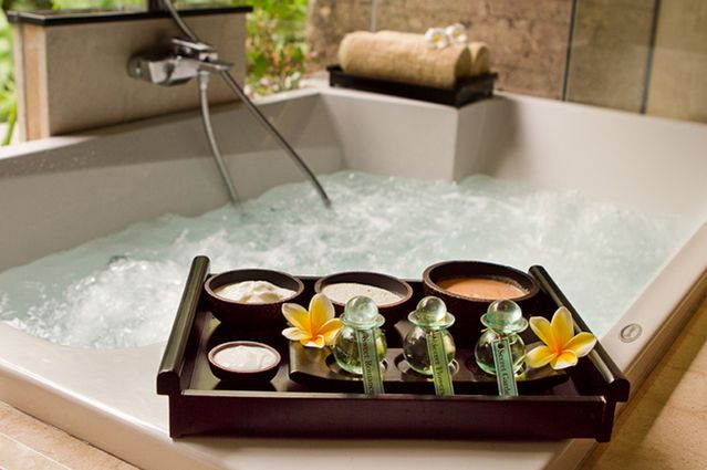 Spa amenities of Spa at De Uma Lokha Luxury Villas, Seminyak Bali.