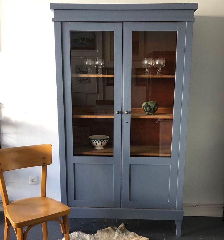 Armoire parisienne vitrée vintage, sortie d'atelier 💫 Hauteur 180 cm Largeur 100 cm Profondeur ...