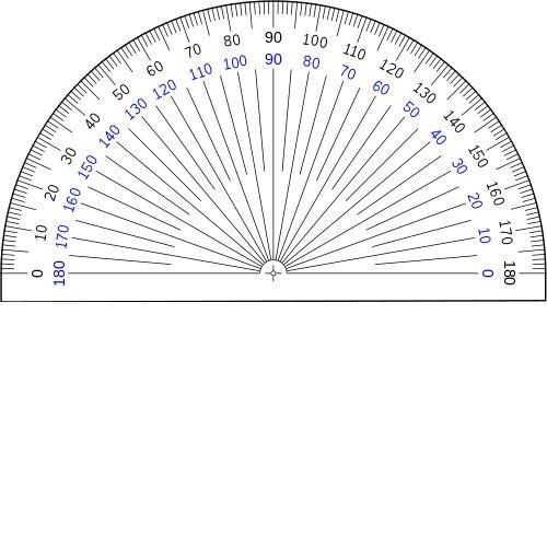 360 degree protractor printable