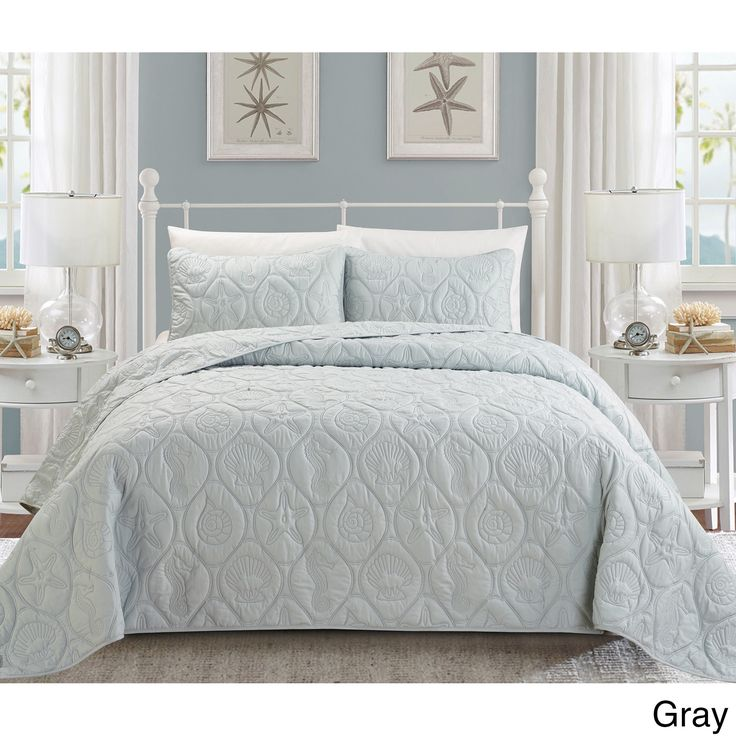 EverRouge Coral 3-piece Bedspread Set