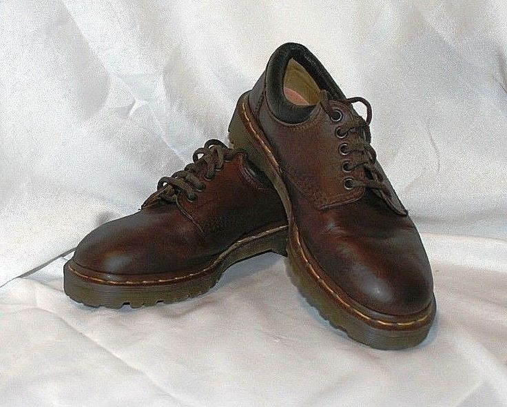 Dr. Martens Mens Size US 8 Brown Leather Crazy Horse Oxford Made in England 8053 #DrMartens #Menstyle #TheSmartShoppe