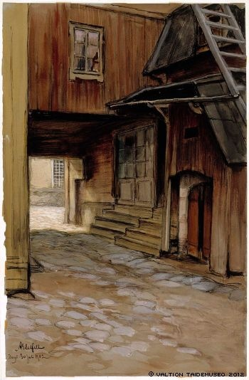 "Albert Edelfelt (1854-1905) ""A house in Porvoo"""