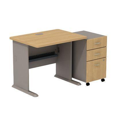 Bush Business Furniture Series A Computer Desk with 3 Drawer Mobile Pedestal Finish: