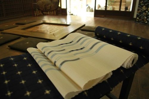 琉球絣に八重山上布をコーディネート