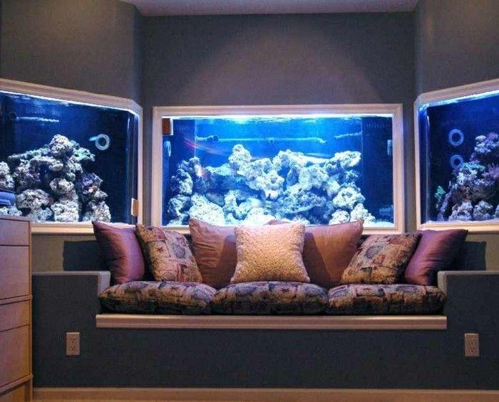 meuble aquarium pas cher sur les murs dans le salon
