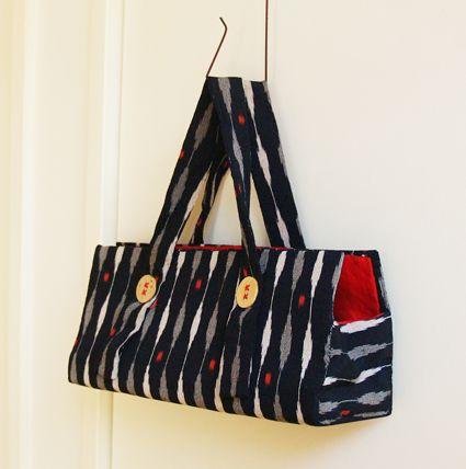 手作りを楽しもう てづくり*てづくり ふだん使いに便利な、ちょっと持ちバッグの作り方(その1)