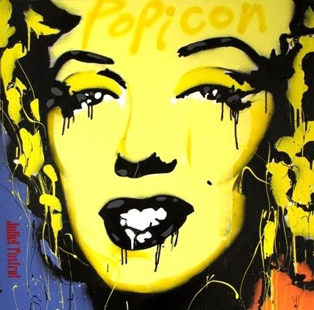 Juliet Foxtrot    PoPiCon Marilyn 2 - 2012    Acrylic/mixed media canvas    91 x 91 cm