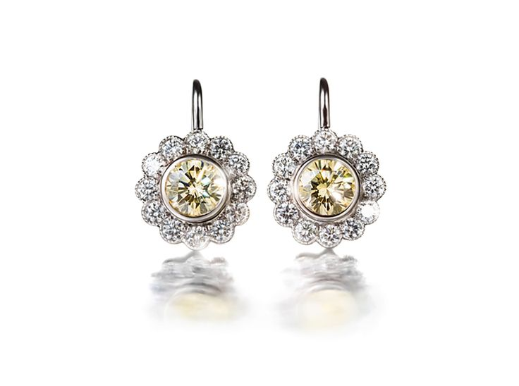 Cluster Earrings With Diamonds