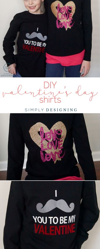 DIY Valentines Day Shirts - make your own Vday shirts with this complete tutorial | Simply Designing