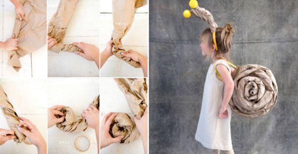 Návod, ako vyrobiť jednoduchý, no zaujímavý kostým slimáka pre deti na karneval. Potešte svoje deti a zhotovte im detský kostým slimáka na karneval.