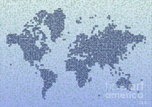 World Map Kotak In Blue by elevencorners. World map wall print decor. #elevencorners #mapkotak