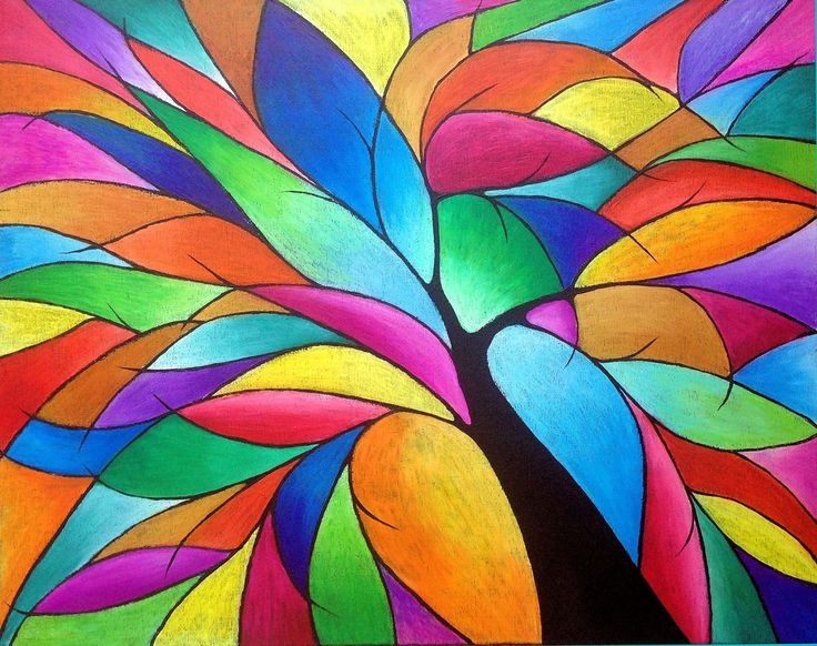 LISA'S ARTY LIFE....: How to Paint an Abstract Tree with Oil Pastels